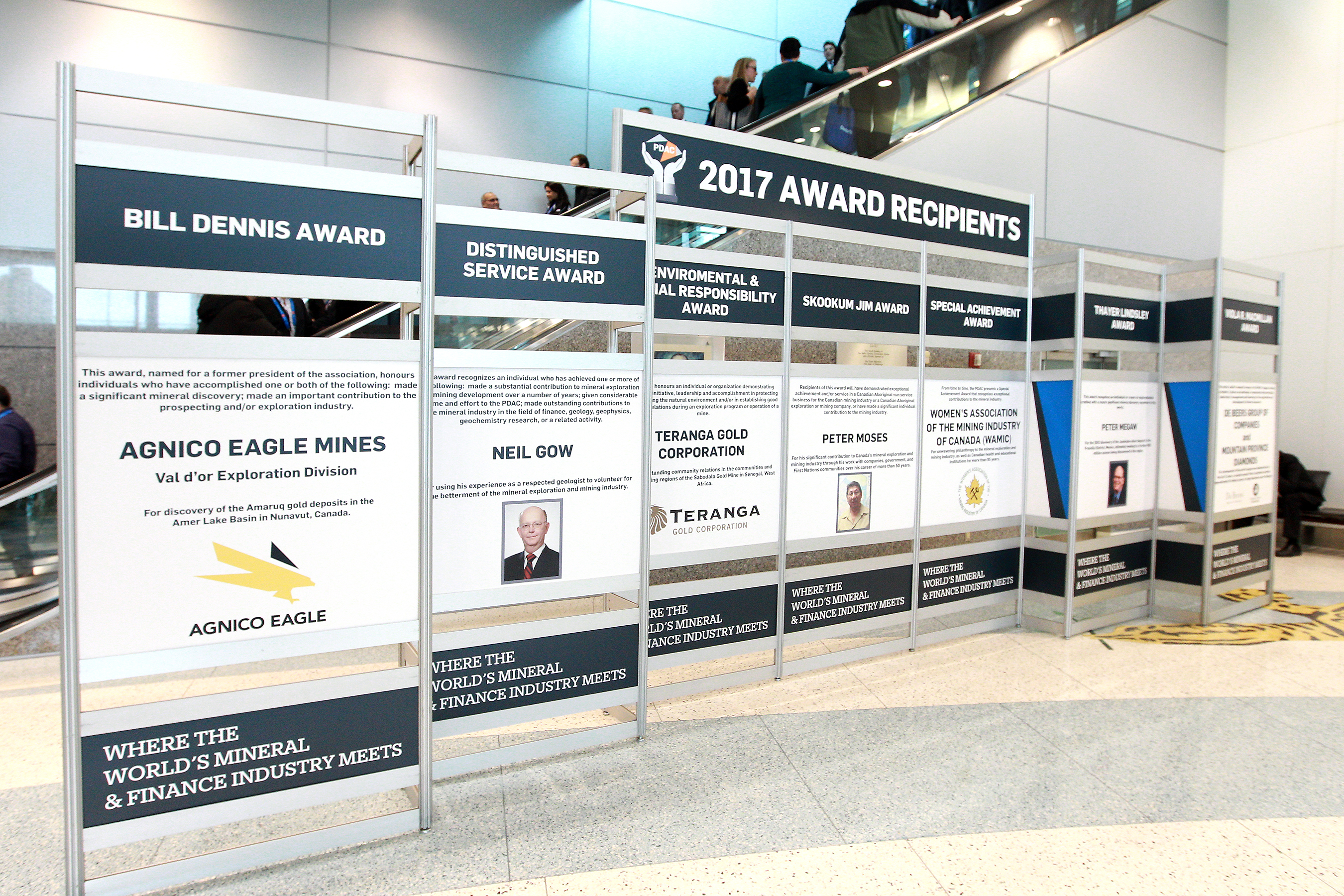 Award Recipients Tribute Wall