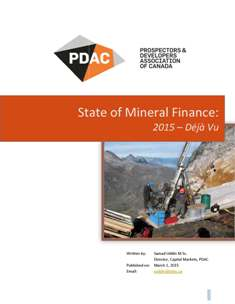 Cover shot of State of Mineral Finance: 2015 – Déjà Vu
