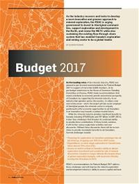 Pages from PDAC's recommendations for Budget 2017